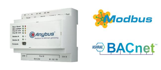 Anybus modbus to knx gateway