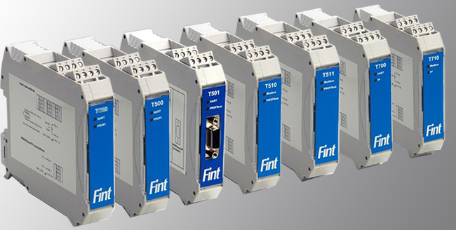 Pasarelas de Fielbus-International (FINT) para HART, Profibus-DP y PA, Foundation Fieldbus (FF) y Modbus...