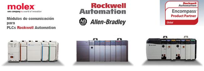 Módulos de comunicación molex para PLCs Rockwell Automation