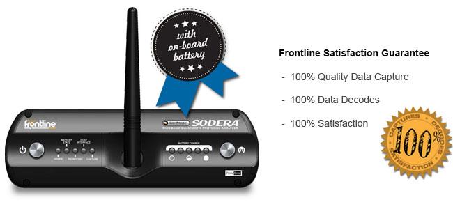Bluetooth® - ComProbe® SoderaTM Wideband, Analizador para ver todos los datos de protocolos Bluetooth...