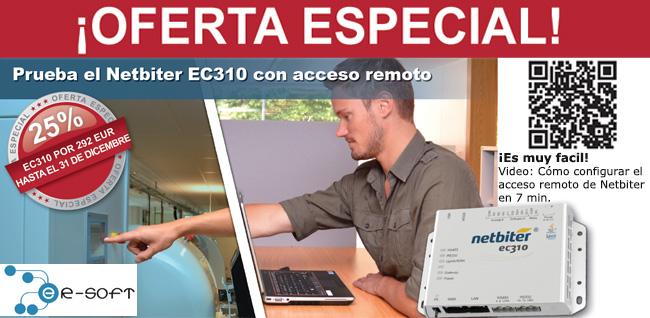 Prueba el Acceso Remoto de Netbiter EC310 con 25% de dto. Antes del 31 de Diciembre