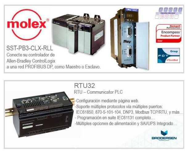 Pasarelas aplicadas a norma IEC61850…// Tarjetas de comunicación para PLCs Rockwell Automation
