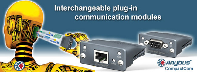 "Anybus CompactCom: ""Fieldbus plug-in modules"" para poner Bus de Campo"