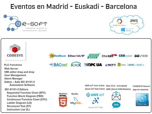 """Te ayudamos a avanzar en la Industria 4.0, ven a nuestro evento """"La máquina Conectada a 4.0"""" en Madrid, en San Sebastian y en Barcelona..."""