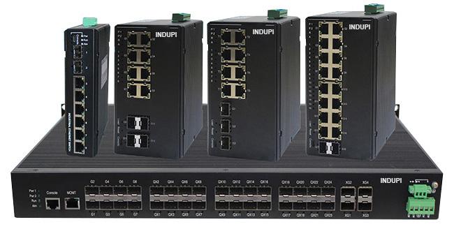 Switches y media converters industriales(Convertidor de medios) Indupi, fibra optica