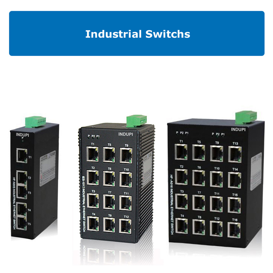 Switches y media converters industriales Indupi
