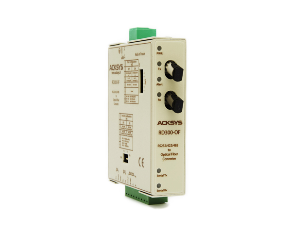RD300-OF Universal serial RS232-RS422-RS485 to multimode optic fiber media converter (2 ST type connectors )