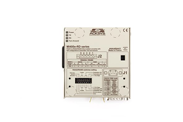 MI400e-RD RS232 -- RS422-RS485 fully isolated converter with self configuration and automatic line turn-around