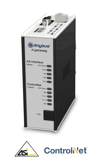 Anybus X-gateway - AS-Interface Master - ControlNet Adapter