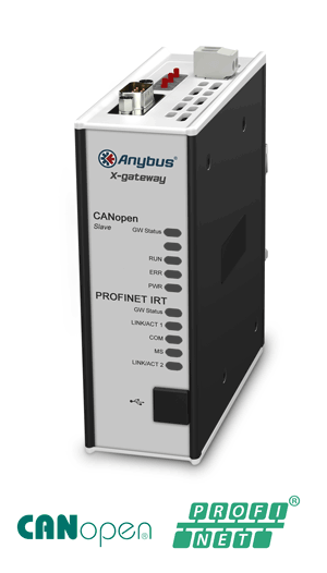Anybus X-gateway - CANopen Slave - PROFINET-IRT Device
