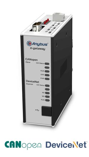 Anybus X-gateway – DeviceNet Scanner - CANopen Slave