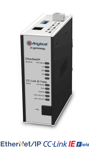 Anybus X-gateway – EtherNet/IP Scanner - CC-Link IE Field Slave