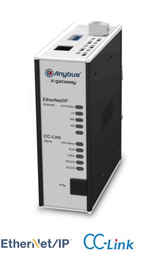 Anybus X-gateway – EtherNet/IP Scanner - CC-Link Slave