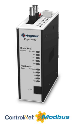 Anybus X-gateway – ControlNet Adapter - Modbus TCP Server