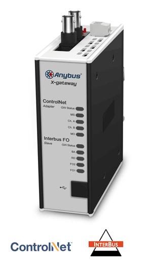 Anybus X-gateway – ControlNet Adapter - Interbus FO Slave