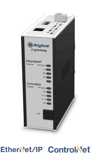 Anybus X-gateway – EtherNet/IP Scanner - ControlNet Adapter