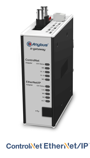 Anybus X-gateway – ControlNet Adapter - EtherNet/IP Adapter