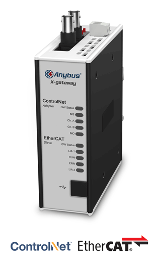 Anybus X-gateway – ControlNet Adapter - EtherCAT Slave
