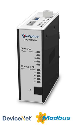 Anybus X-gateway – DeviceNet Adapter - Modbus TCP Server