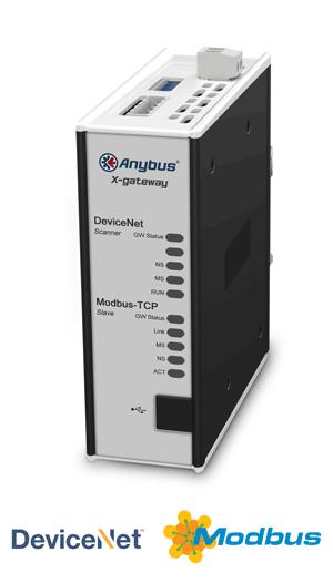 Anybus X-gateway – DeviceNet Scanner - Modbus TCP Server