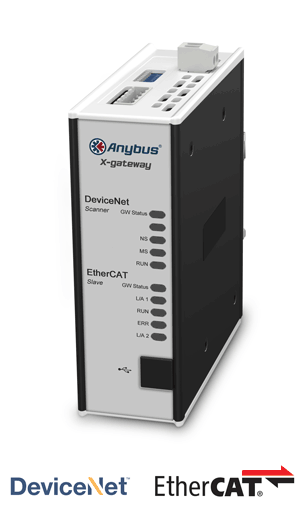 Anybus X-gateway – DeviceNet Scanner - EtherCAT Slave