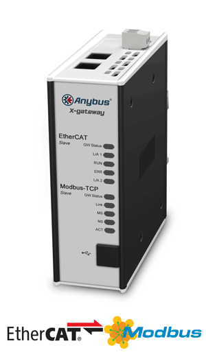 Anybus X-gateway – EtherCAT Slave - Modbus TCP Server