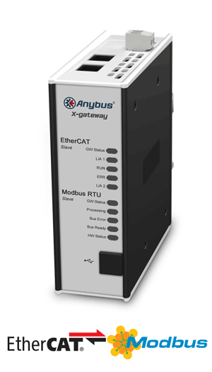 Anybus X-gateway – EtherCAT Slave - Modbus RTU Slave