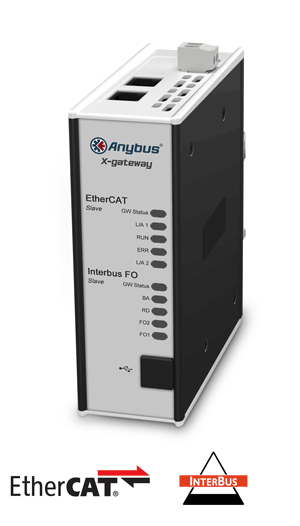 Anybus X-gateway – EtherCAT Slave - Interbus FO Slave