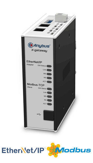 Anybus X-gateway – EtherNet/IP Adapter- Modbus TCP Server