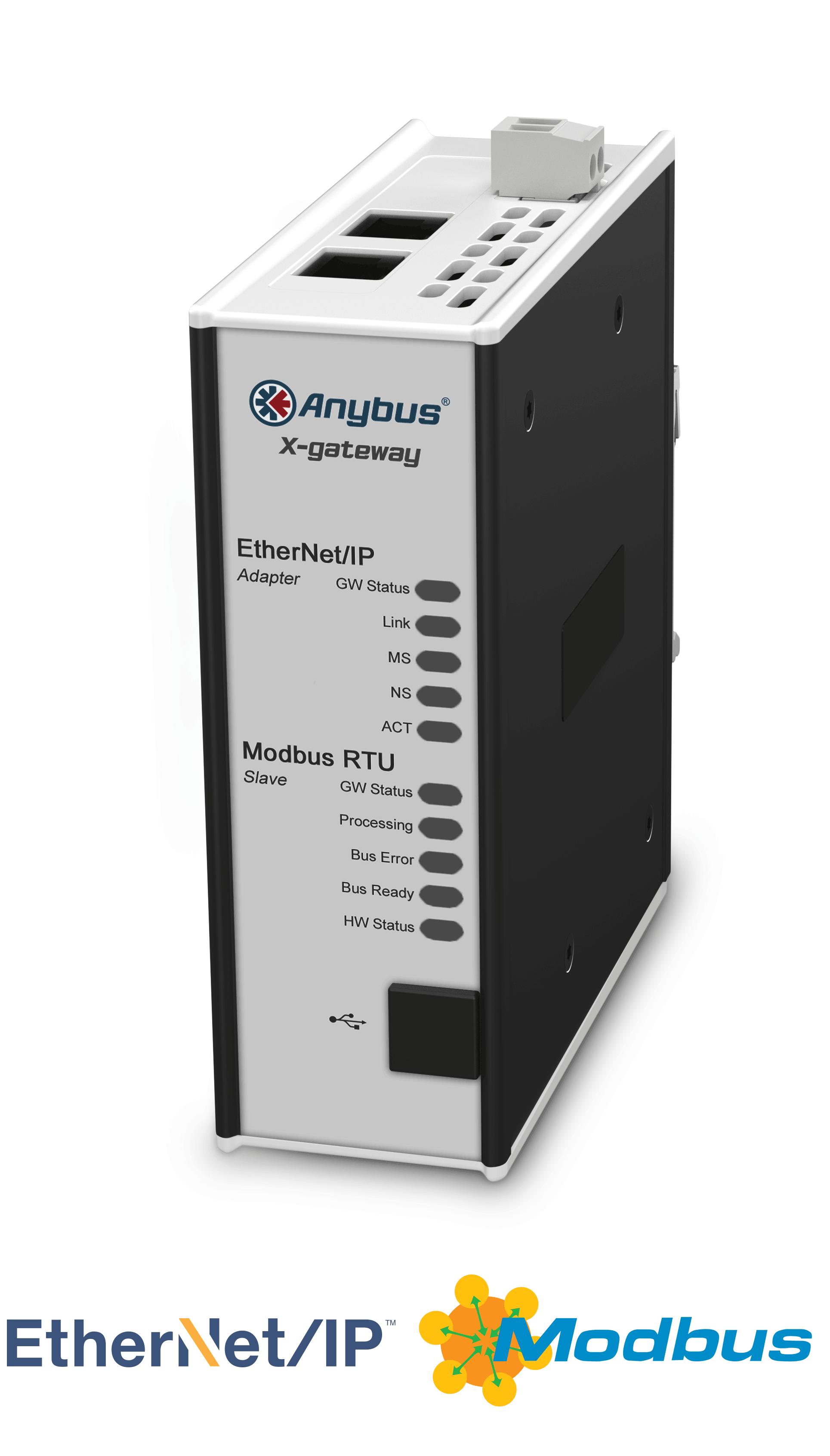 Anybus X-gateway – EtherNet/IP Adapter- Modbus RTU Slave
