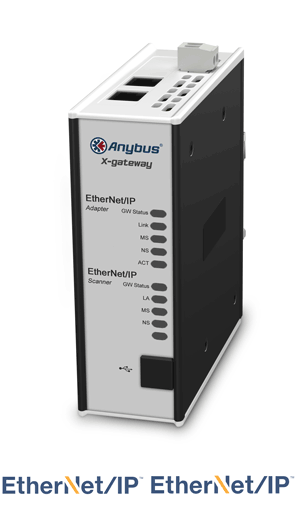 Anybus X-gateway – EtherNet/IP Scanner - EtherNet/IP Adapter