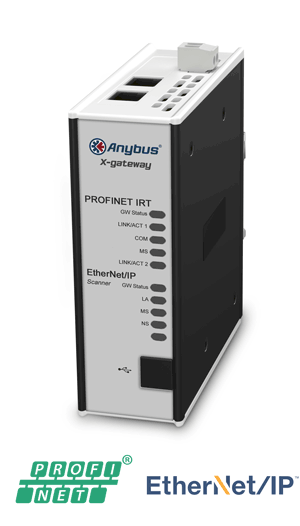 Anybus X-gateway – EtherNet/IP Scanner- PROFINET-IRT Device