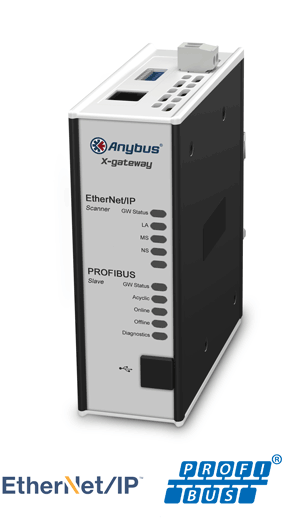 Anybus X-gateway – EtherNet/IP Scanner - PROFIBUS Slave