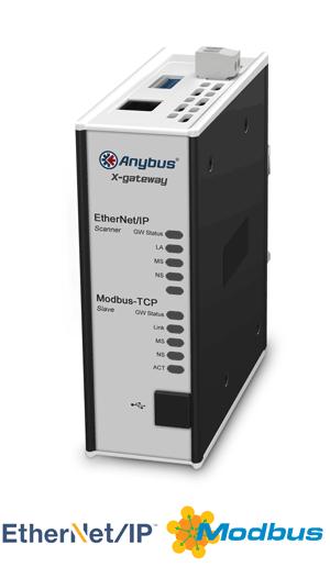 Anybus X-gateway – EtherNet/IP Scanner - Modbus TCP Server