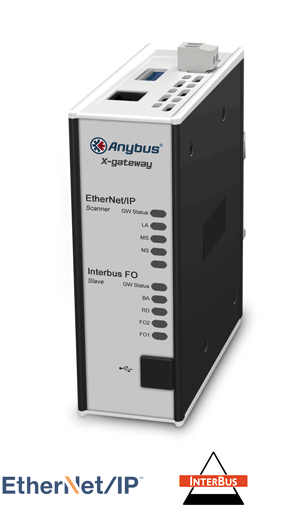 Anybus X-gateway – EtherNet/IP Scanner - Interbus FO Slave