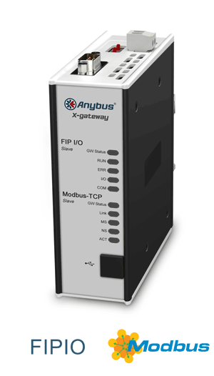 Anybus X-gateway – FIPIO Slave - Modbus TCP Server
