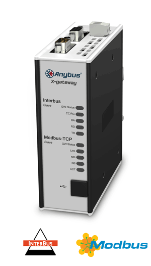 Anybus X-gateway – Interbus CU Slave - Modbus TCP Server