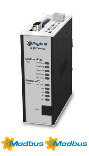 Anybus X-gateway – Modbus TCP Server – Modbus RTU Slave