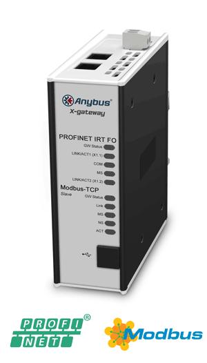 Anybus X-gateway – Modbus TCP Server - PROFINET-IRT FO Device