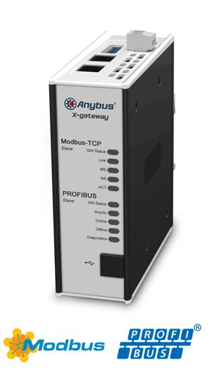 Anybus X-gateway – PROFIBUS Slave – Modbus TCP Server