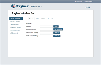 Wireless Bolt Configuration Setup