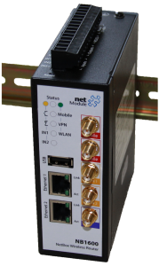 The NB1600 WIAP supports multiple wireless networks (WLAN-Hotspots) and fast Internet via 2G-3G-4G-