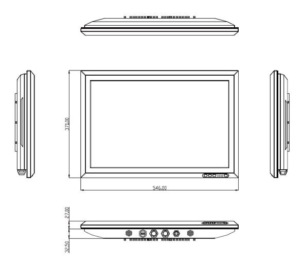 "VS IP65 Stainless Steel Panel PC 22"""