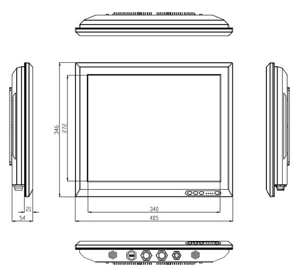 "VS IP65 Stainless Steel Panel PC 17"""