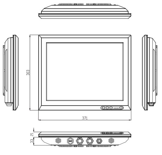 "VS IP65 Stainless Steel Panel PC 15"""