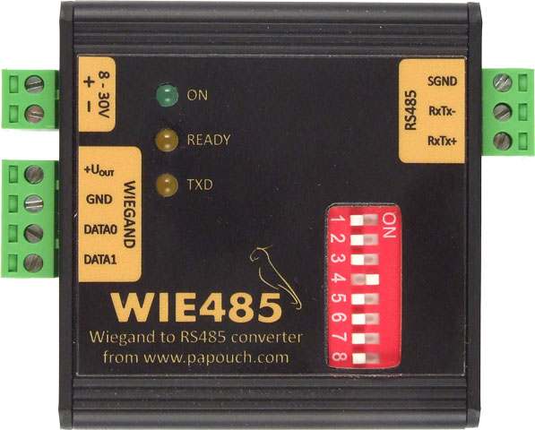 Wie485 - Wiegand to RS485 interface