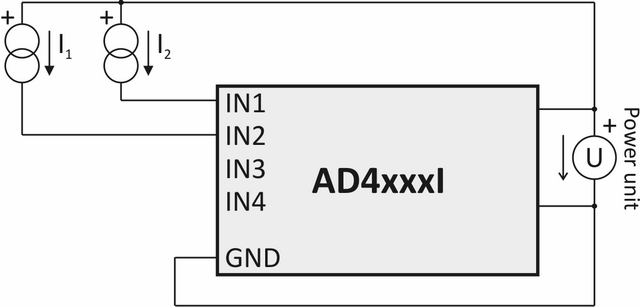 Current sensor connections - example 2