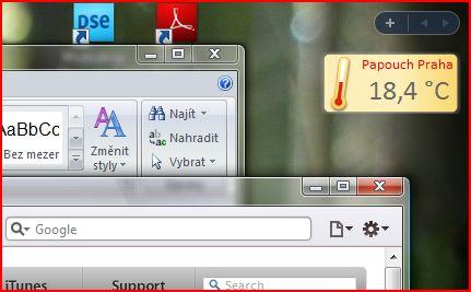 Gadget for Windows Vista and Windows 7.