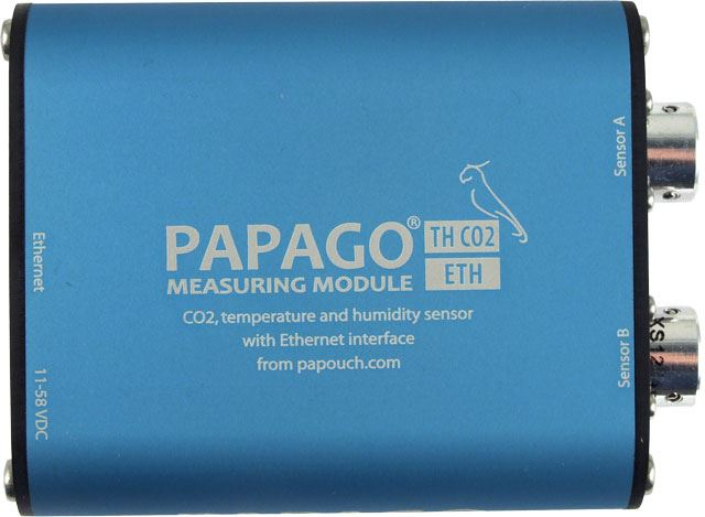PAPAGO TH CO2 ETH: CO2, temperature and humidity sensor with Ethernet