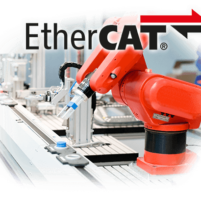 Red industrial EtherCAT